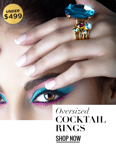 Oversized Cocktail Rings under $499