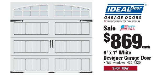 IdealDoor White Designer Garage Door