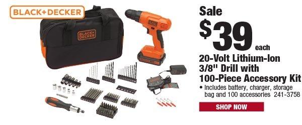Black+Decker 100-Piece Drill Accessory Kit