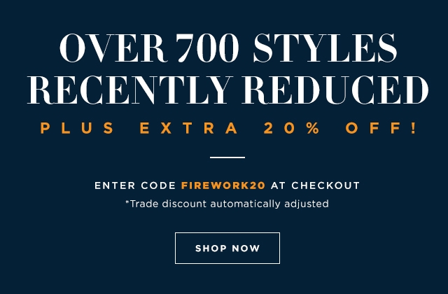 Extra 20% off sale styles | enter code FIREWORK20 at checkout | shop now