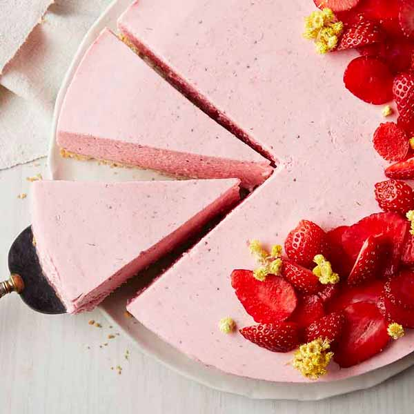 Strawberry Cream on Shortbread
