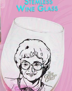 Shop Golden Girls Stemless Wine Glass