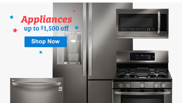 Appliances Up to $1,500 Shop Now