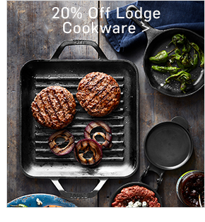 20% Off Lodge Cookware