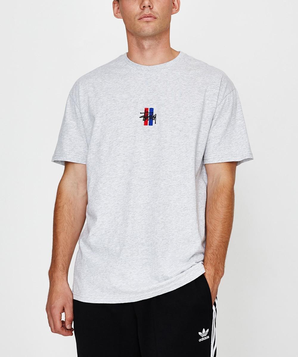 Bars Logo Short Sleeve T-shirt Grey Marle