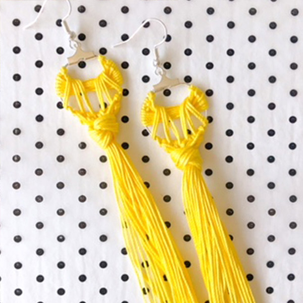 How to make Tassel Hoop Earrings