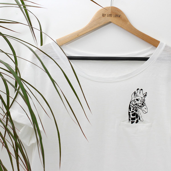Your Cricut Explore Giraffe Pocket Shirt