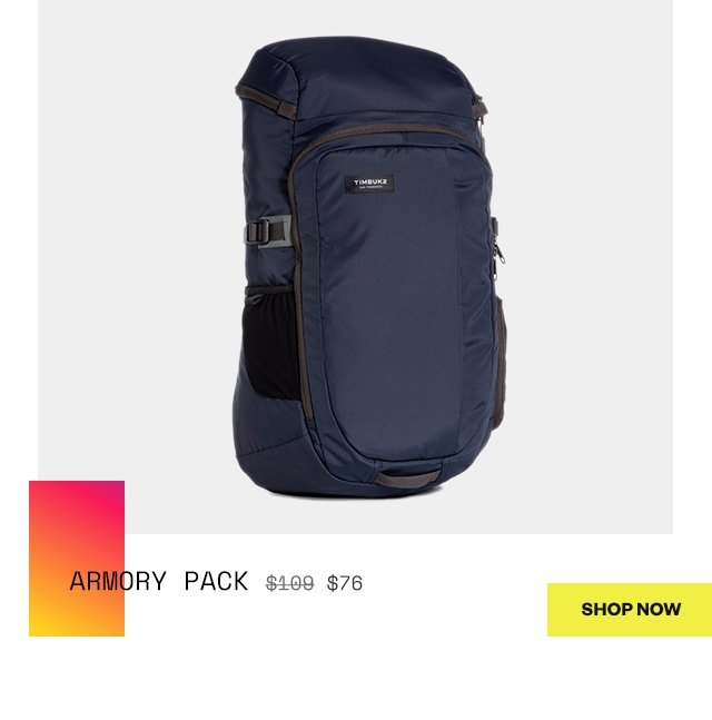 Armory Pack  was 109 | now 76  Shop Now