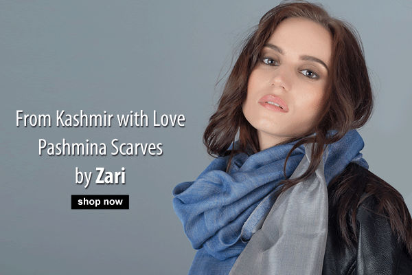 From Kashmir with Love. Pashmina Scarves by Zari
