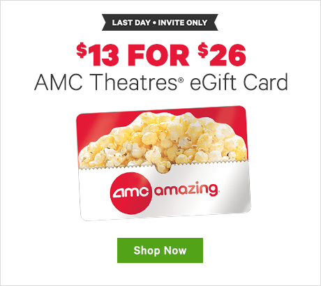 $13 for $26 AMC Theatres eGift Card