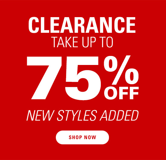 Clearance take up to 75% OFF - New styles added