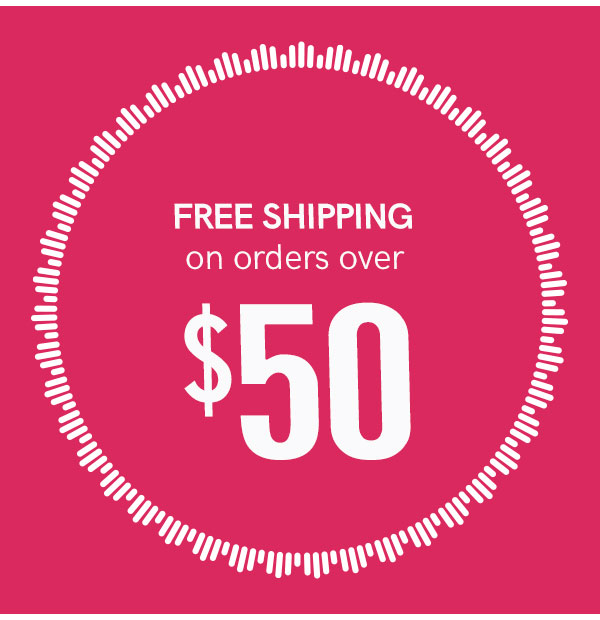 Enjoy FREE Shipping on all orders over $50! Hurry, this offer ends tonight!