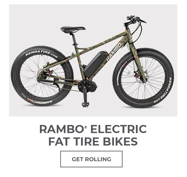 Get Rolling with Rambo Electric Fat Tire Bike.
