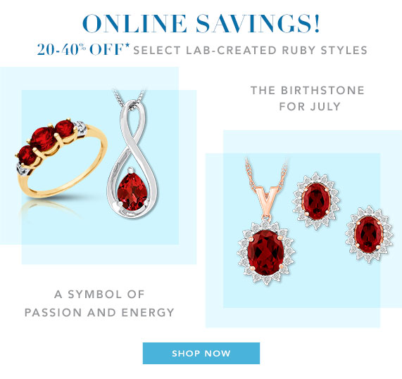 20-40% Off Select Ruby Styles