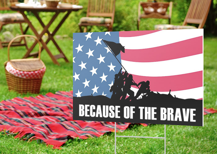 Order a Patriotic Yard Sign