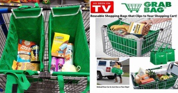 Clip-to-Cart Reusable Shopping Bag