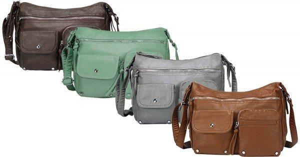 Scarleton Soft Washed Multi Zip Crossbody Bag - 4 Colors