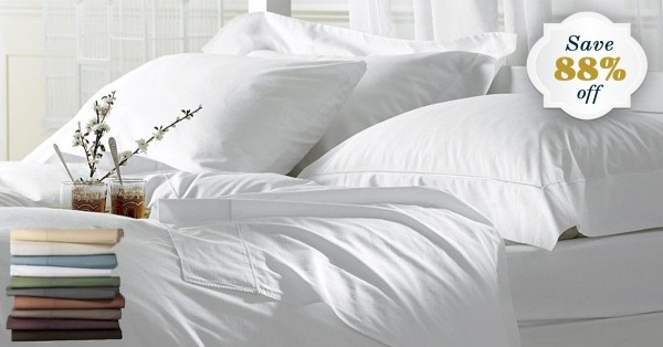 6-Piece Set: Ultra-Soft Egyptian Comfort Double-Brushed 1600 Series Sheets
