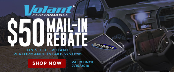 Volant | $50 Mail-In Rebate for select Volant Performance Intake systems | Ends 07/15/18