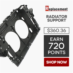 Replacement Radiator Support | Price: $360.36 | Earn 720 Points