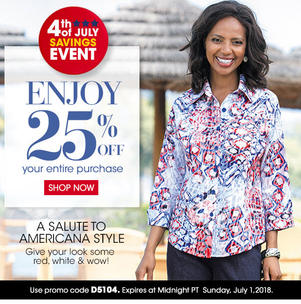 SHOP NOW! 25% Off your purchase