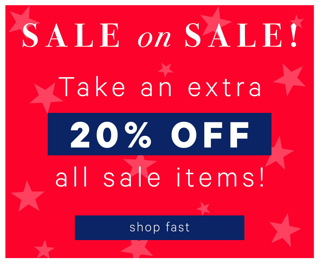 Take An Extra 20% Off All Sale Items!