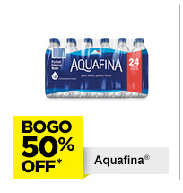 BOGO 50% Off Aquafina