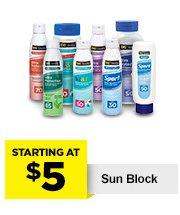 $5 Sun Block