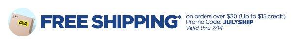 FREE SHIPPING* Promo code JULYSHIP