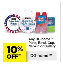 10% Off* DG home
