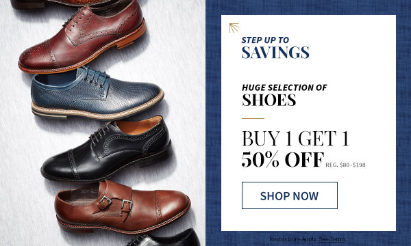 Give Yourself a Second Look - BUY 1 GET 1 FREE - of equal or lesser value - PLUS, BUY 1 GET 1 50% OFF SHOES - SHOP NOW
