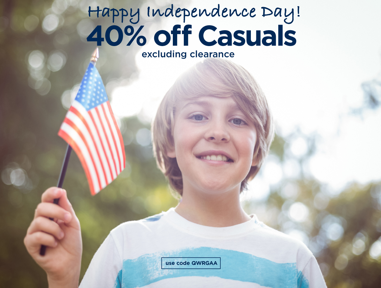 SAVE 40% OFF CASUAL
