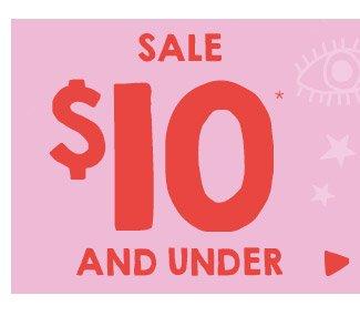 Shop $10 & Under