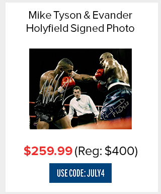 Tyson/Holyfield Dual Signed Photo