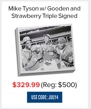 Tyson, Strawberry, Gooden Triple Signed