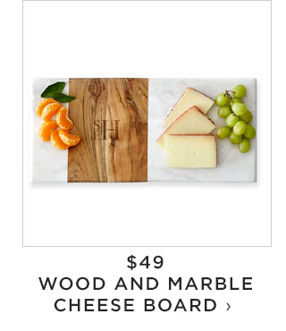 $49 - WOOD AND MARBLE CHEESE BOARD