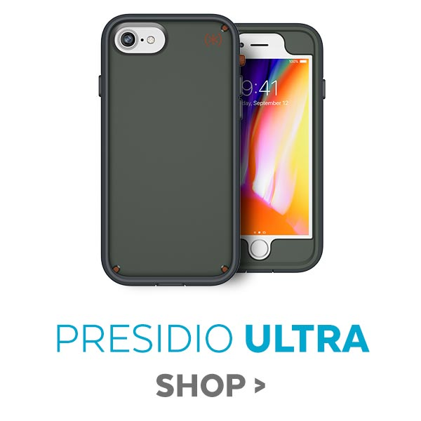 Presidio ULTRA cases featuring up to 15 feet of drop protection for iPhone X, iPhone 8 Plus, and iPhone 8, 25% OFF. SHOP NOW