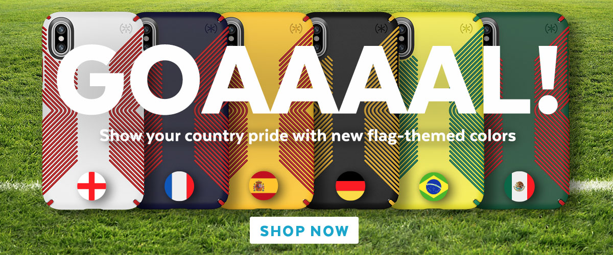 Goal! Show your country pride with new flag-themed colors. SHOP NOW