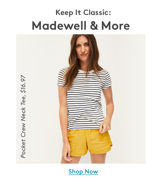 Keep It Classic: Madewell & More   Pocket Crew Neck Tee, $16.97   Shop Now