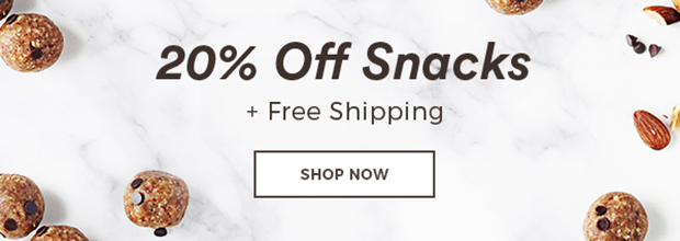 20% Off Snacks + Free Shipping