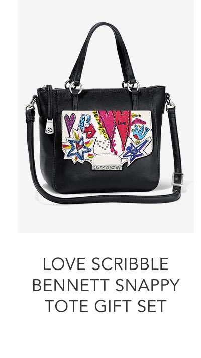 Shop the Love Scribble Bennett Snappy Tote Gift Set