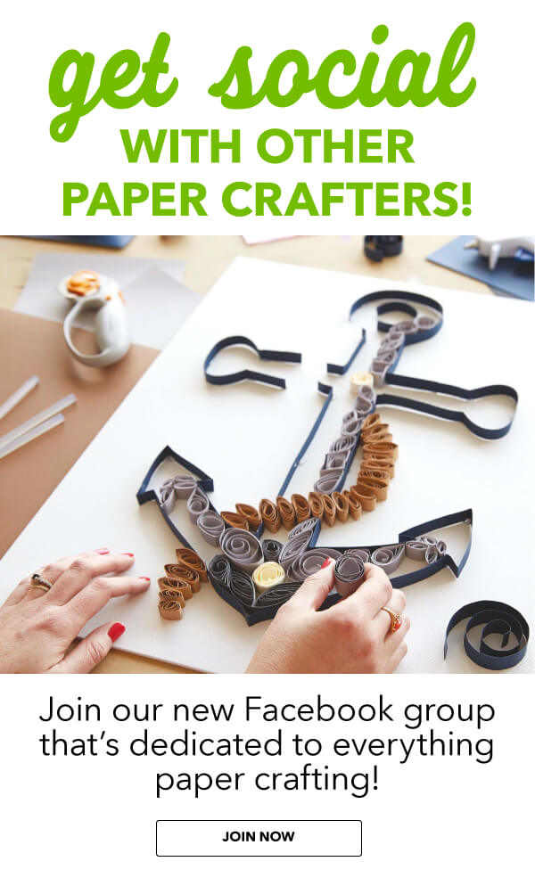 JOANN loves papercrafters. Join our new Facebook Group thats dedicated to everything papercrafting! Get inspired by other papercrafters. Share your latest projects. Talk about new trends and techniques. Meet people and have fun!