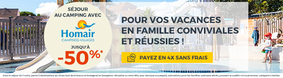 Promotion sjours camping