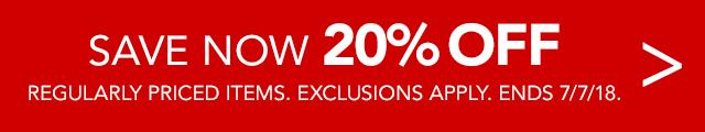Non Rewards Global 20% off regularly priced item
