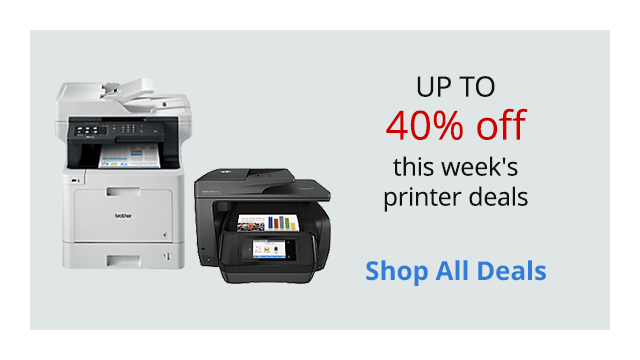 Save up to 40% off this week's printer deals