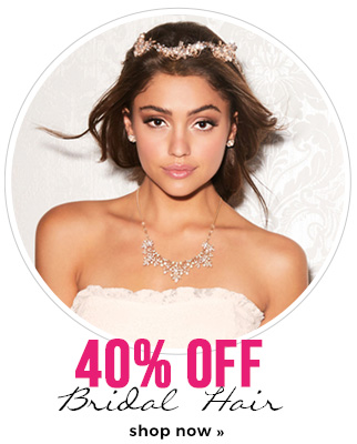 40% off bridal hair