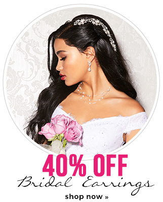 40% off bridal earrings