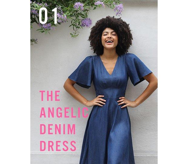 THE ANGELIC DENIM DRESS -SHOP NOW
