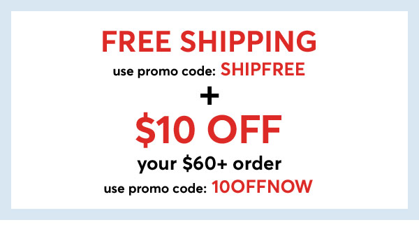 Shop $10 Off $60+ Orders with Code