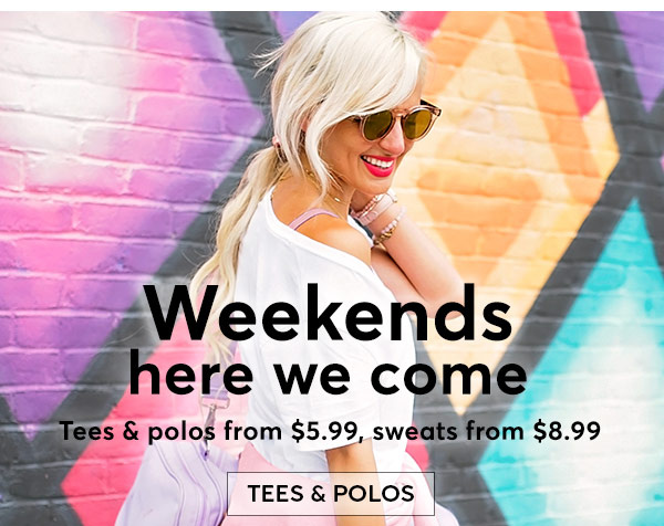 Shop Summer Tees & Polos